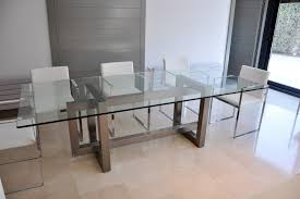 eei slv gridiron stainless steel dining table in silver display
