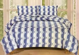queen bedding 5 piece set blue circles fabric wholesale direct