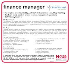 Benefits Manager Resume Ngo Recruitment Finance Manager And Administration Ngo Recruitment