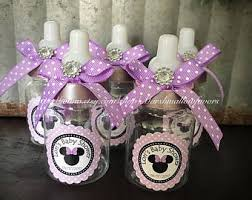 minnie mouse baby shower favors minnie baby bottles etsy