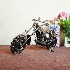 cool retro iron motorcycle model ornaments vintage metal