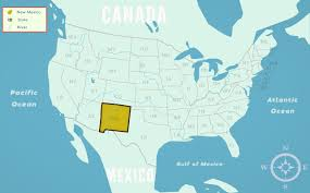State Map Of New Mexico by New Mexico Nm State Information