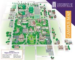 Uofa Map Campus Map University Of Evansville