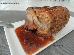 cuisine roti de porc en cocotte recette de rôti de porc sauce au miel et moutarde