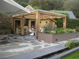Garden Shelter Ideas Green Oak Stainless Steel Contemporary Glass Roof Roofed Pergola