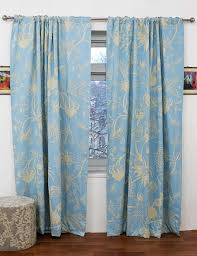 Curtain Panels Chelsea Crewel Curtain Panels And Drapes Hand Embroidered Cotton