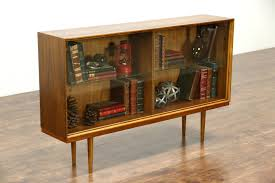 display china cabinets furniture decoration modern display cabinet danish vintage walnut bookcase or