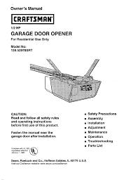 Overhead Door Legacy Opener by Craftsman Garage Door Opener Manual Home Interior Design