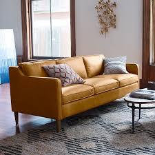 Cognac Leather Sofa by Hamilton Leather Sofa 81