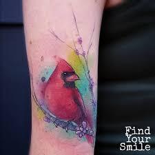 cardinal watercolor tattoo my style tattoo ideas pinterest