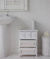Freestanding Bathroom Furniture White New White Freestanding Bathroom Cabinet With 2 Drawers For