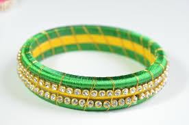 light green color designer light green color silk thread bangle u2013 bhama u0027s boutique