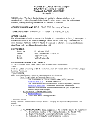 course syllabus phoenix campus educ 5318 becoming a teacher