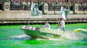 chicago river dyed green for st patrick u0027s day cbs chicago