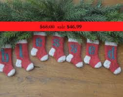 Knitted Christmas Stocking Tree Decorations by Knit Christmas Stocking Etsy