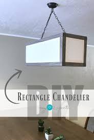 Rectangular Shade Chandelier Rectangle Chandelier My Love 2 Create