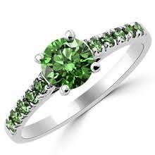 green engagement ring green engagement rings wedding rings matching sets