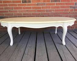 White Wood Coffee Table Painted Coffee Table Etsy