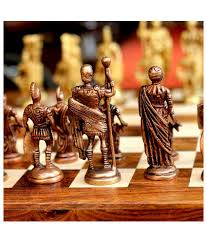 chess board buy unravel india multicolour roman brass chess set with wooden board