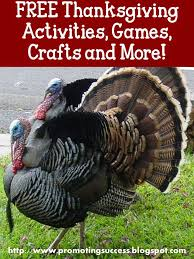 promoting success free thanksgiving crafts and activities