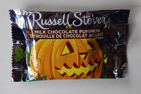 walking the candy aisle russell stover milk chocolate pumpkin review