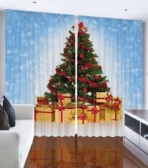 Amazon Living Room Curtains by Amazon Com Christmas Tree Blue Snowy Sky Bedroom Living Room