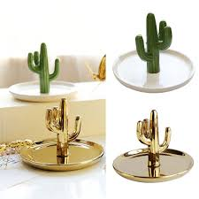 antique cactus ring holder images Nordic cactus shaped jewelry display stand dish accessories holder jpg
