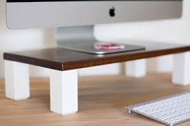 Monitor Stands For Desks Make An Easy Diy Monitor Stand By Brittany Goldwyn Live Creatively