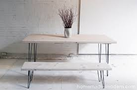 White Wash Coffee Table - homemade modern ep3 1 white washed 2x12 table with hairpin legs