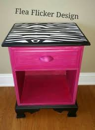pink and zebra dresser so gotta do this for the girls room
