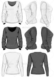 women u0027s t shirt design template long sleeve by ivelly graphicriver