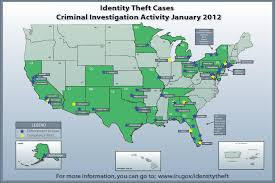 Identity Map Map Of Identity Theft Cases In January 2012