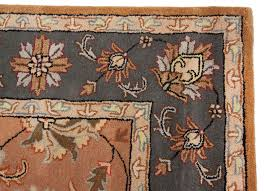 Area Rug 8 X 10 Beautiful Traditional Persian Orange Grey Handmade Wool Area Rug 8x10