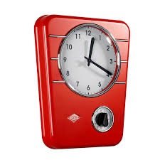 Retro Kitchen Accessories by Achica Wesco Classic Kitchen Clock Red For The Home