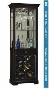 Bar Cabinet With Wine Cooler Howard Miller Black Coffee Wine Bar Cabinet 20 Bottles Stemware