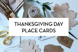 Diy Place Cards Thanksgiving Day Diy Place Cards Shindig Paperie