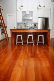 cherry wood floors contemporary kitchen providence