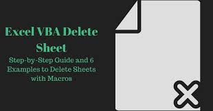 excel vba delete sheet step by step guide and 6 examples