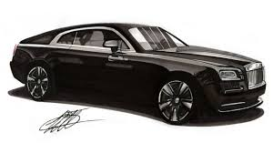 realistic car drawing rolls royce wraith time lapse youtube