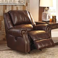 ashley furniture collinsville power rocker recliner in chestnut