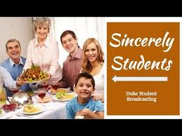 letter to family at thanksgiving sincerely students