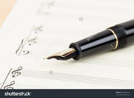 paper writing music blank music score on cream color stock photo 300366254 shutterstock blank music score on cream color paper with pen