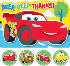 disney cars 1st birthday thank you cards birthdays disney cars