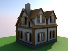 3d asset low poly simple house small 2 cgtrader
