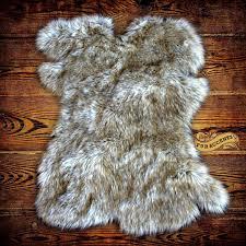 floor faux fur chair throw fake bear rug faux fur rugs