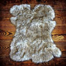 Polar Bear Fur Rug Floor Faux Bear Skin Rug With Head Sherpa Rug Faux Fur Rugs