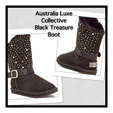 australia luxe s boots australia luxe collective smu black boot size 7 ebay