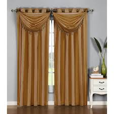Chocolate Brown Valances For Windows Gold Window Scarves U0026 Valances Window Treatments The Home Depot
