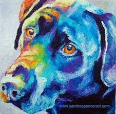 black lab portrait black lab portrait dogs dog painting