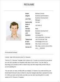 Resume Template Basic by A Simple Resume Exles Enomwarbco Simple Resumes Sles Sle